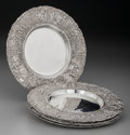 Silver Holloware, Continental:Holloware, Six Continental Silver Bread and Butter Plates, early 20th century.7 inches (17.8 cm). 32.17 troy ounces. ... (Total: 6 )