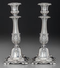 Silver Holloware, Continental:Holloware, A Pair of Schott German Silver Candlesticks, 19th century. Marks:SCHOTT, (crown over 13), 13, P.B. & S.. 9 inchesh... (Total: 2 )