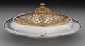 Silver & Vertu:Hollowware, An Elgin Silversmith Co. Silver Centerpiece Bowl with Brass Frog, New York, New York, circa 1950. Marks: STERLING, EL-SIL-...