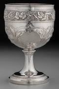 Silver Holloware, British:Holloware, A Solomon Hougham George III Silver Goblet, London, England, circa1815. Marks: (lion passant), (crowned leopard), (duty mar...