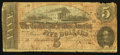Confederate Notes:1864 Issues, Manuscript Note T69 $5 1864 PF-1 Cr. 558.. ...
