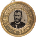 Political:Ferrotypes / Photo Badges (pre-1896), Ulysses S. Grant: Back-to-back Ferrotype....