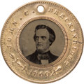 Political:Ferrotypes / Photo Badges (pre-1896), John C. Breckinridge: Back-to-back Ferrotype....