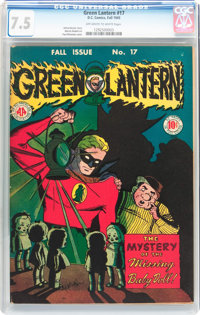 Green Lantern #17 (DC, 1945) CGC VF- 7.5 Off-white to white pages