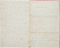 Militaria:Ephemera, [Battle of Ball's Bluff]. Union Soldier's Letter by F. Moore, 6thNew York Light Artillery....