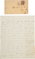 Militaria:Ephemera, [Siege of Petersburg]. Union Soldier's Letter by Elias L.Buterbaugh of the Signal Corps, United States Army....