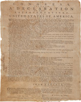 Featured item image of The Declaration of Independence: Rare July 1776 Broadside Printing by Ezekiel Russell of Salem, Massachusetts-Bay, the Colony'...