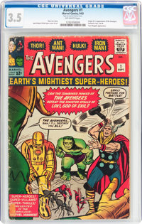 The Avengers #1 (Marvel, 1963) CGC VG- 3.5 Off-white pages