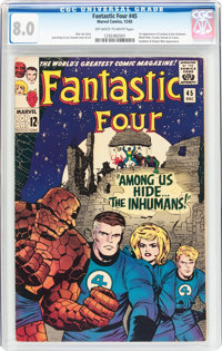 Fantastic Four #45 (Marvel, 1965) CGC VF 8.0 Off-white to white pages