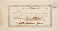 Autographs:Statesmen, Robert Treat Paine Signed Notice of a Meeting of the Fire Club....(Total: 2 )