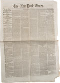 Miscellaneous:Newspaper, [Andersonville Prison]. Newspaper: The New-York Times. ...