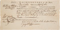 Autographs:Statesmen, William Ellery Document Signed....