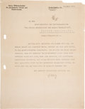 Autographs:Non-American, Fritz Haber Typed Letter Signed....