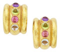 Estate Jewelry:Earrings, Multi-Stone, Gold Earrings, Elizabeth Locke. ...