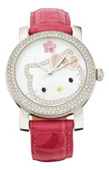 Estate Jewelry:Watches, Kimora Lee Simmons Diamond, Pink Sapphire, Mother-of-Pearl,Stainless Steel Watch. ...
