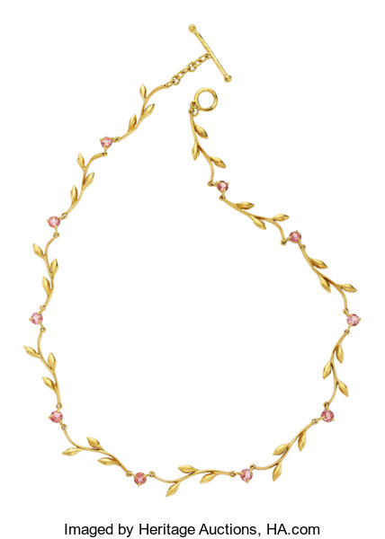 Tourmaline Gold Necklace Cathy Waterman Estate