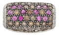 Estate Jewelry:Rings, Colored Diamond, Diamond, Pink Sapphire, White Gold Ring. ...