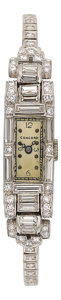 Estate Jewelry:Watches, Concord Lady's Diamond, Platinum, White Gold Watch. ...