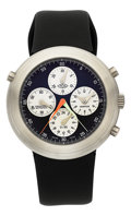 Estate Jewelry:Watches, Ikepod Gentleman's Hemipode Chronograph Rattrapante Stainless SteelWatch. ...