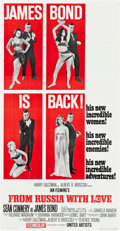 """Movie Posters:James Bond, From Russia with Love (United Artists, 1964). Three Sheet (41"""" X 79.5"""") Style B.. ..."""