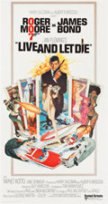 "Movie Posters:James Bond, Live and Let Die (United Artists, 1973). International Three Sheet (41"" X 77"").. ..."