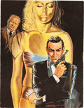 "Movie Posters:James Bond, Goldfinger Jigsaw Puzzles (Milton Bradley, 1965). Jigsaw Puzzles(5) (2"" X 10"" X 11"" & 2.5"" X 10"" X 14"") & Uncut PuzzlePost... (Total: 6 Items)"