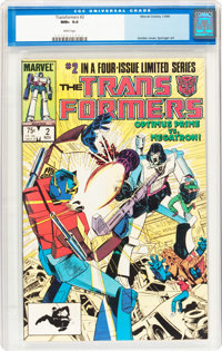Transformers #2 (Marvel, 1984) CGC NM+ 9.6 White pages