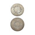 Timepieces:Other , Two Elgin's 8-Day Watch Printing Plates For Dials. ... (Total: 2 Items)