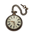 Timepieces:Pocket (pre 1900) , Over Sized Swiss Sterling Verge Fusee Pair Case Pocket Watch. ...