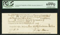 Colonial Notes:Connecticut, Connecticut Comptroller of Public Accounts £7 15s 3d 1789 PCGS Gem New 65PPQ.. ...