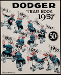 Baseball Collectibles:Publications, 1957 Brooklyn Dodgers Yearbook....