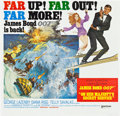 "Movie Posters:James Bond, On Her Majesty's Secret Service (United Artists, 1970). Six Sheet(81"" X 81"").. ..."