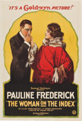 "Movie Posters:Drama, The Woman on the Index (Goldwyn, 1919). One Sheet (28"" X 41"").. ..."