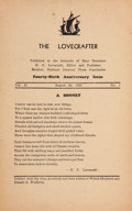 Books:Horror & Supernatural, H. P. Lovecraft. The Lovecrafter. Vol. 47 No. 1. [n.p.]:1936. First edition....