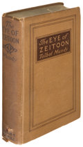 Books:Horror & Supernatural, Talbot Mundy. The Eye of Zeitoon. Indianapolis: [1920].First edition, inscribed by the author with author's boo...