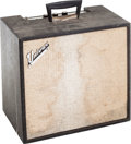Musical Instruments:Amplifiers, PA, & Effects, 1967 Univox U45B Black Guitar Amplifier....
