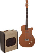 Musical Instruments:Electric Guitars, 1957 Silvertone Model 1300 Copper Solid Body Electric Guitar andTwo-Tone Model 1341 Guitar Amplifier.... (Total: 2 Items)