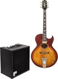 Musical Instruments:Electric Guitars, Circa 1977 Ibanez Howie Roberts Sunburst Archtop Electric Guitarand Polytone Mini Brute II Black Guitar Amplifier, Serial # A...(Total: 2 Items)