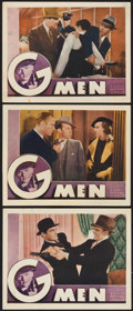 "Movie Posters:Crime, G-Men (First National, 1935). Lobby Cards (3) (11"" X 14"").. ...(Total: 3 Items)"