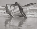 Photographs:Gelatin Silver, Edward W. Quigley (American, 1898-1977). Untitled (Pushing outthe Boat). Gelatin silver. 10 x 12-5/8 inches (25.4 x 32....