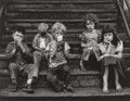 Photographs, Yasuhiro Ishimoto (American, 1921-2012). Children on Stoop, 1951-52. Gelatin silver. 7-1/4 x 9-1/4 inches (18.5 x 23.6 c...