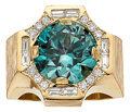 Estate Jewelry:Rings, Gentleman's Zircon, Diamond, Gold Ring. ...