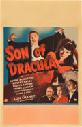 "Movie Posters:Horror, Son of Dracula (Universal, 1943). Window Card (14"" X 22"").. ..."