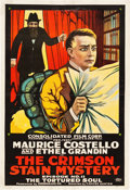 "Movie Posters:Serial, The Crimson Stain Mystery (Consolidated, 1916). One Sheet (28"" X 41"") Episode 11 -- ""The Tortured Soul."". ..."