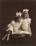 Photographs:Gelatin Silver, Launey (American, 20th Century). Two Sisters, 1909. Gelatinsilver. 9 x 7 inches (22.9 x 17.8 cm) (sight). Dated and ins...