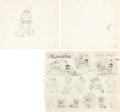 Animation Art:Production Drawing, Little Hiawatha Animation Drawing and Model Sheet Group(Walt Disney, 1937).... (Total: 3 Items)