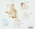 Animation Art:Concept Art, Mike Royer DuckTales Concept Original Art (Walt Disney, 1987)....