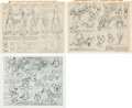 animation art:Model Sheet, Goofy and Mickey Mouse Studio Model Sheet Group (Walt Disney,1937).... (Total: 3 Items)