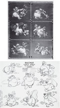 animation art:Model Sheet, Fantasia Bacchus Studio Model Sheet Group (Walt Disney).... (Total: 2 Items)