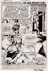 Gene Colan and Syd Shores Daredevil #67 Splash Page 1 Production Art (Marvel, 1970)